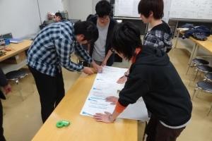 各班はA4横12枚に実験をまとめたものを作成し