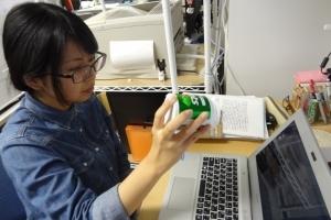 ノートPCのカメラに写った丸い物体で実験