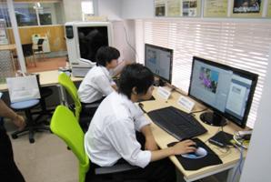 3Dプリンタや3Dコンピュータグラフィックの実験装置