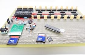 microSDを使えるように考慮した3D LED Cubeの制御基板が完成