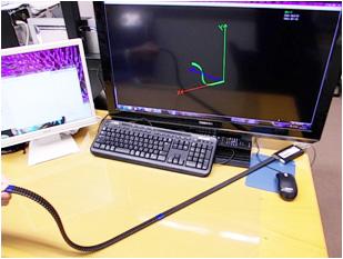 曲線状の形を自由自在に変えて計測できるセンサ