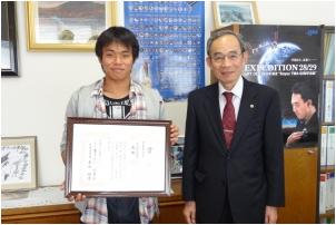 音響・組み込みマイコン分野で学生奨励賞を受賞した 武田駿君
