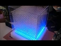 縦10x横10x高さ10の合計100個のフルカラーLEDを用いた3D LED Cube